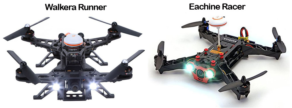 Eachine Racer y Walkera Runner