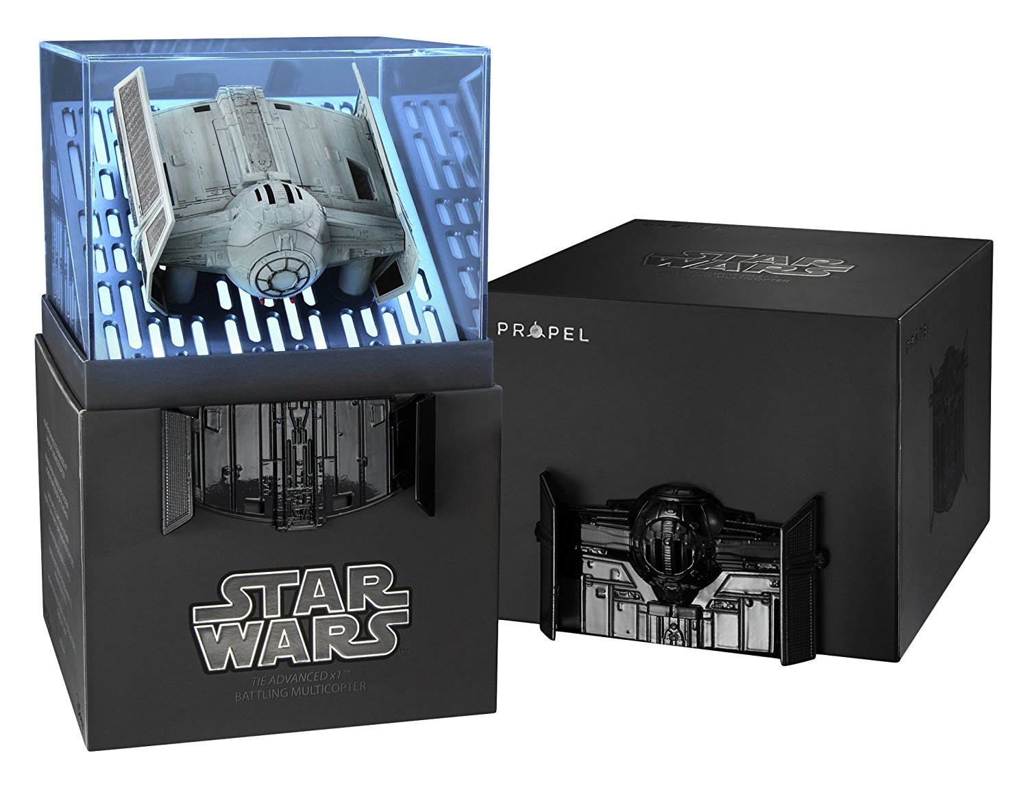 Star Wars - Tie-Advanced, quadcopter de la Batalla de Alto Rendimiento (Propel SW-0327-CX)