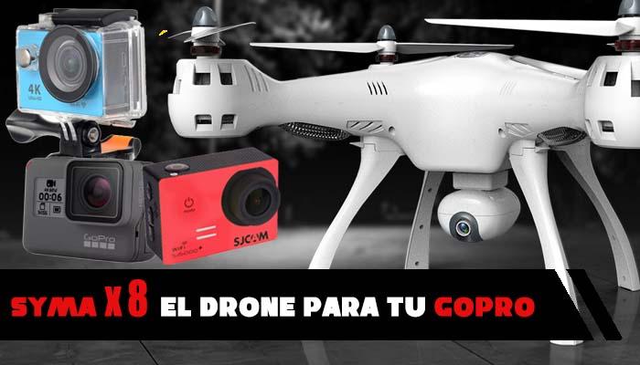 SYMA X8 drone barato para GoPro