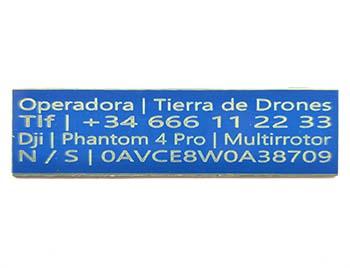 Placa ignífuga drone azul