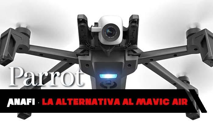 Parrot Anafi: drone con cámara 4K HDR, rival del Mavic Air