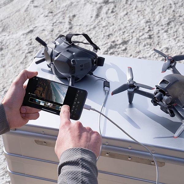 App para manejo del dron DJI FPV: la DJI Fly